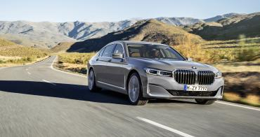 2020 BMW 7 Series on road