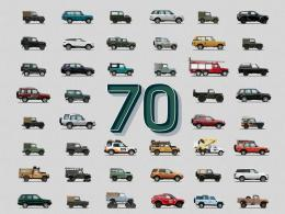 The many different vehicles produced by Land Rover over the past seven decades