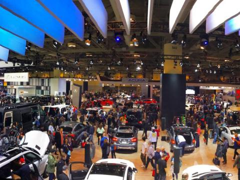 The 2018 Canadian International Auto Show at the Metro Toronto Convention Centre