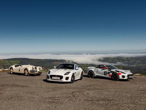 2020 jaguar f-type chequered flag edition and XK 120