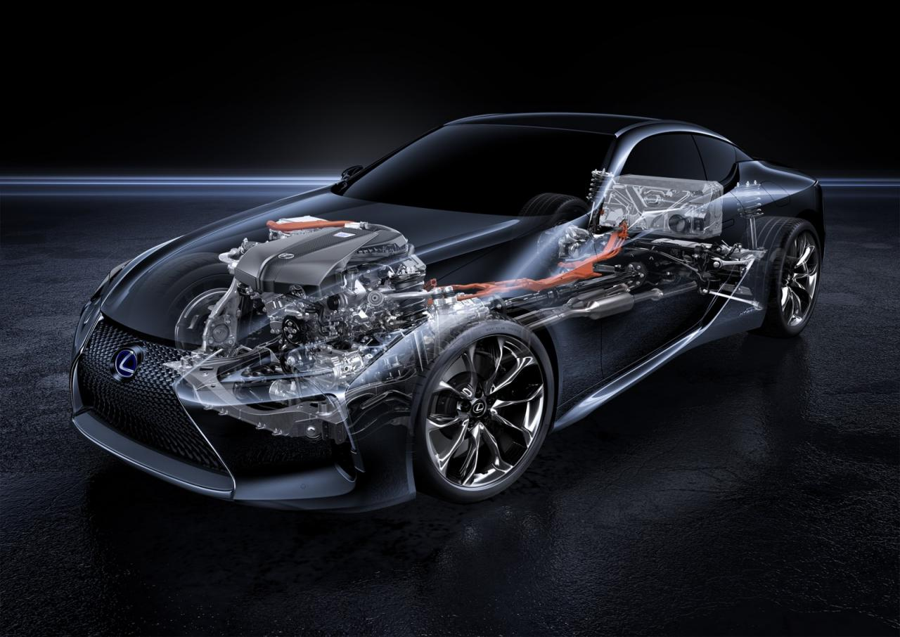 The inner workings of the Lexus LC 500h