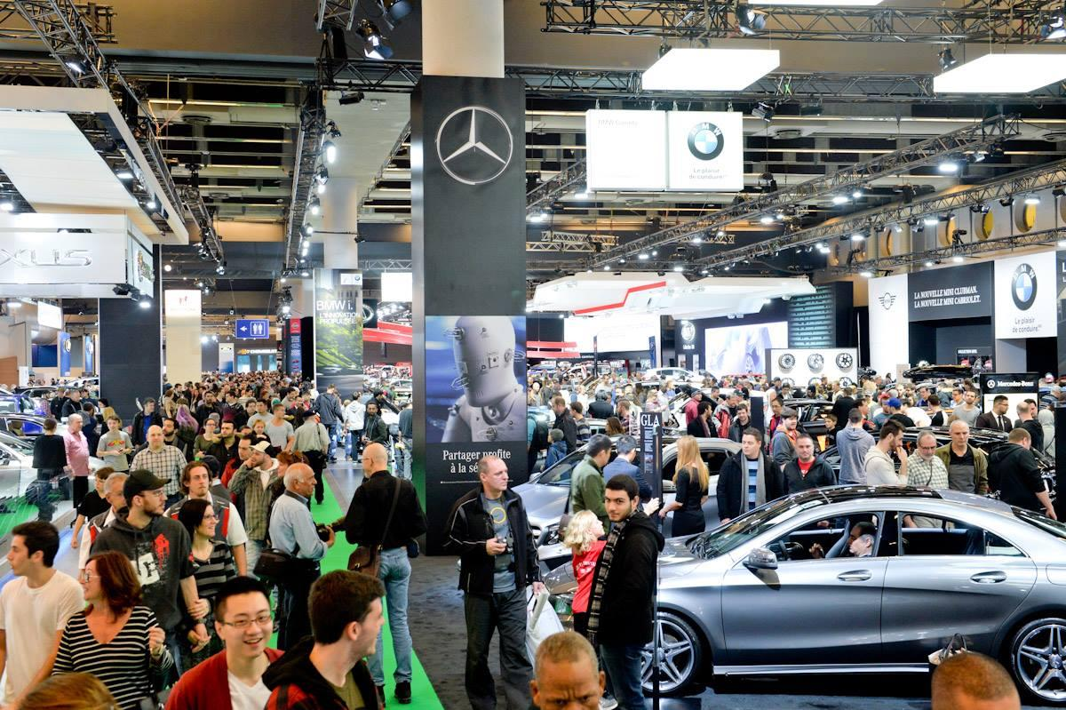 The crowds at the 2019 Montreal International Auto Show