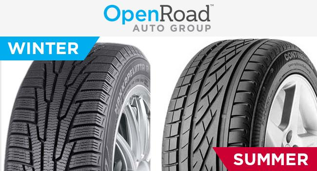 Winter-summer tires at Openroad Hyundai Richmond