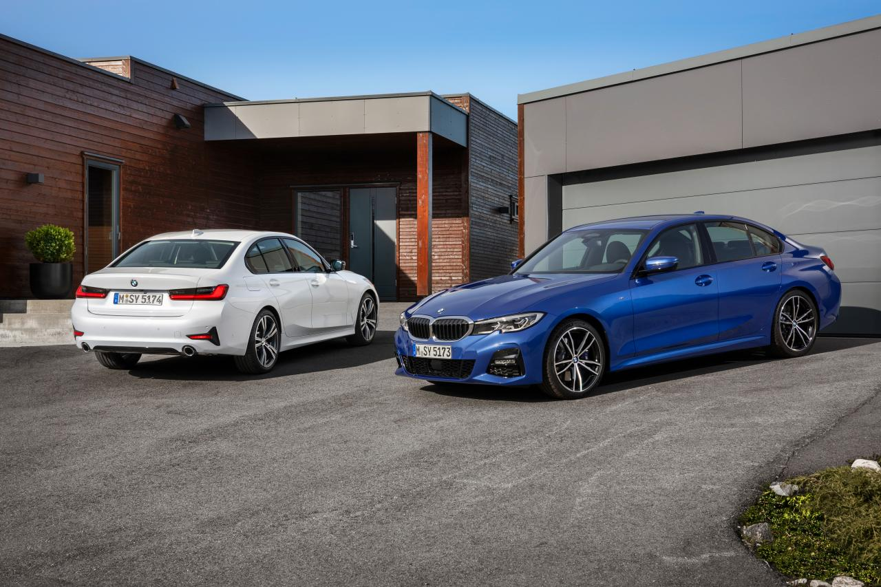 2019 BMW 3 series front and rear