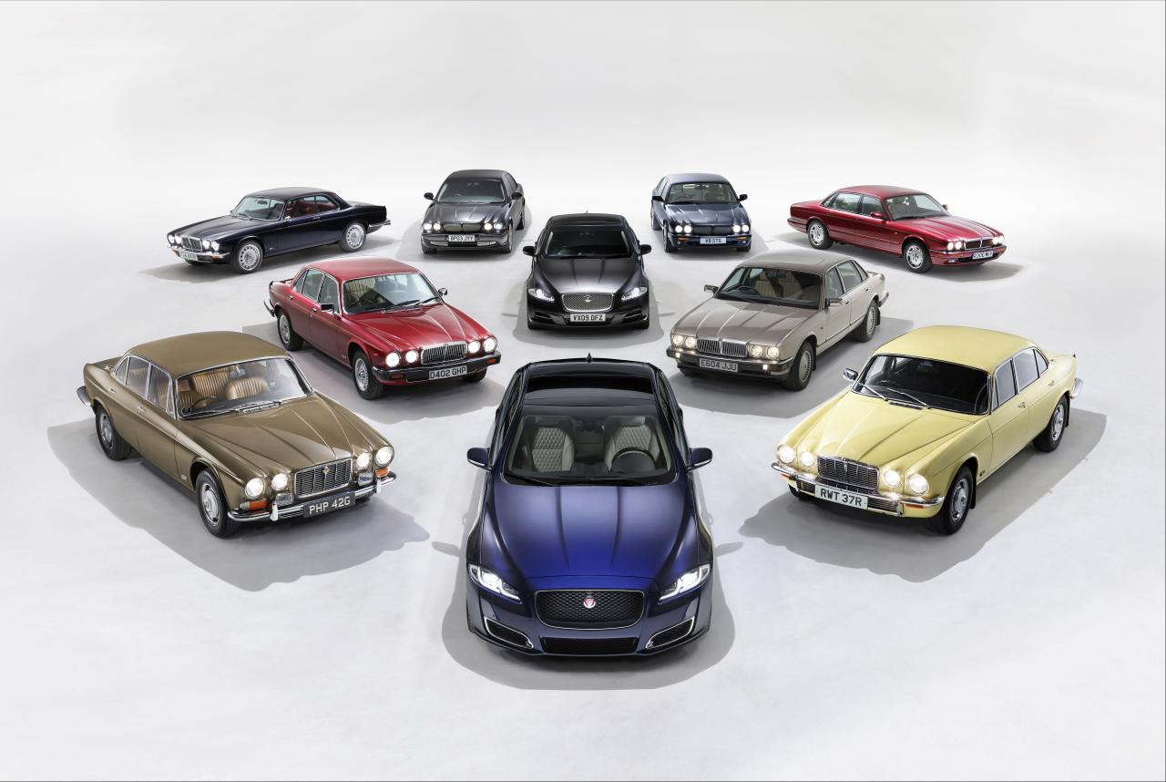Notable Jaguar XJ models from the last 50 years