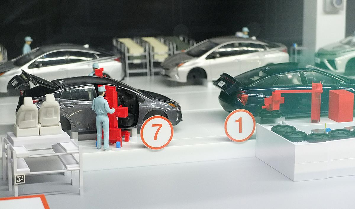 toyota kaikan museum factory floor model