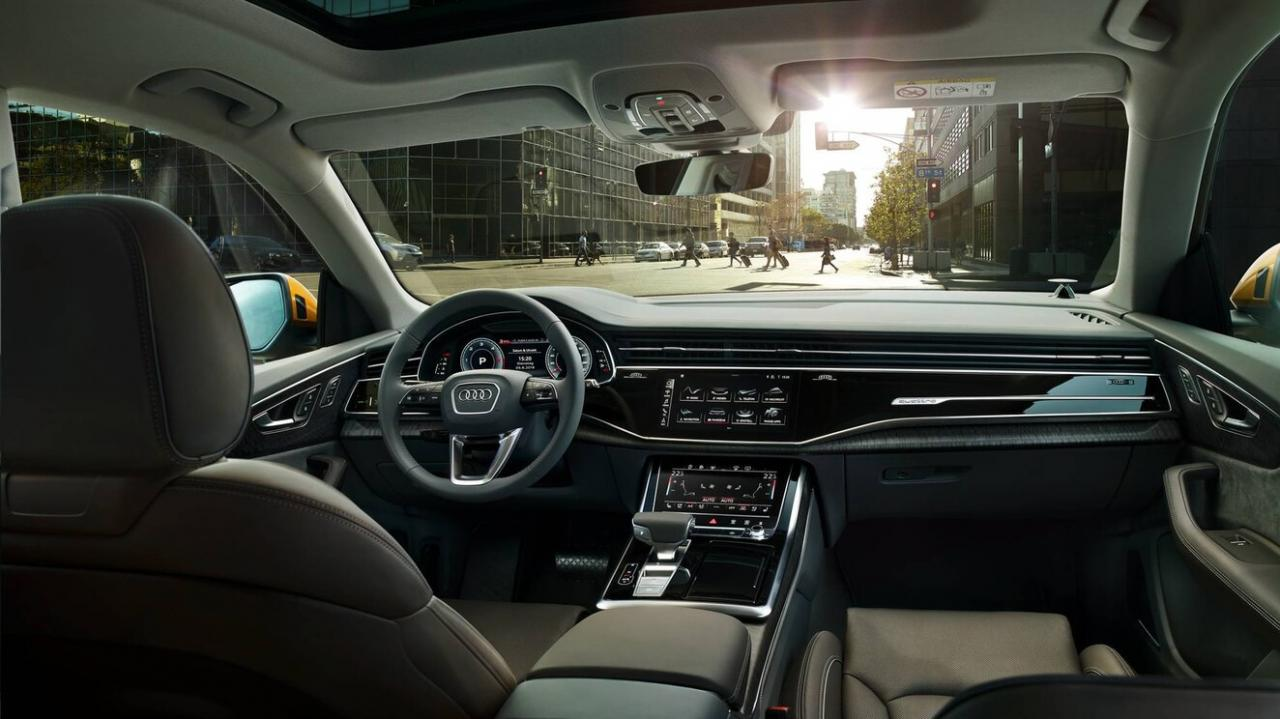 2019 Audi Q8 interior technology console