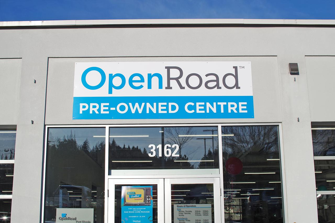 openroad toyota port moody pre-owned centre