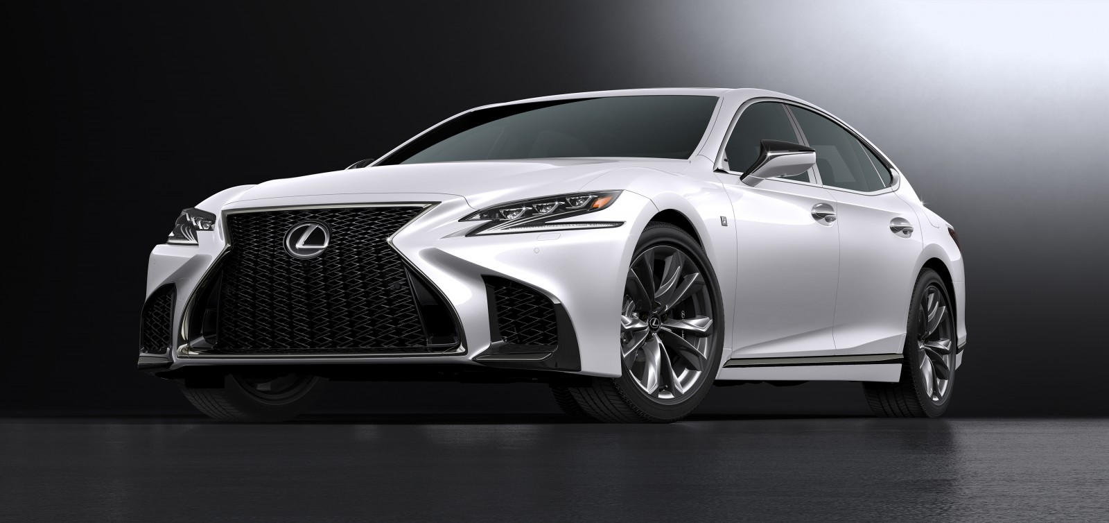 2018 lexus ls 500 f sport front angle