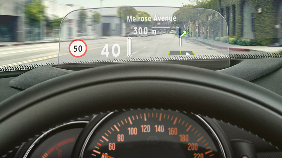 MINI Cooper head-up display