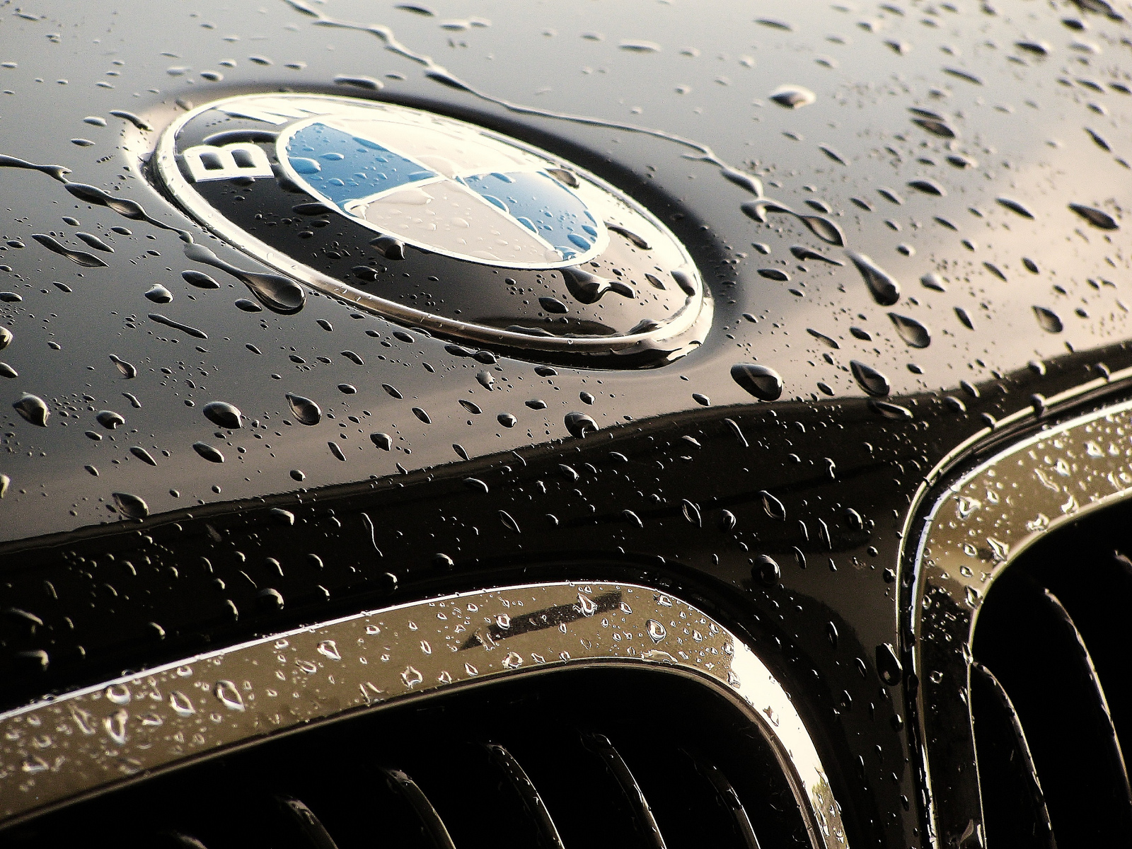 washed BMW closeup