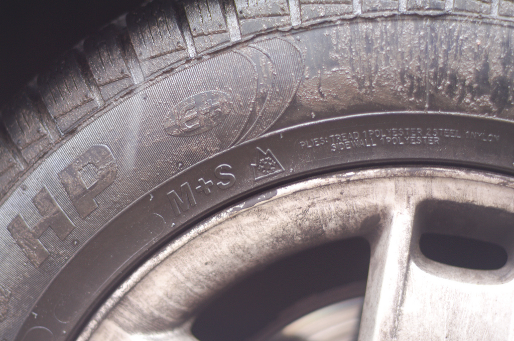 winter tire sidewall