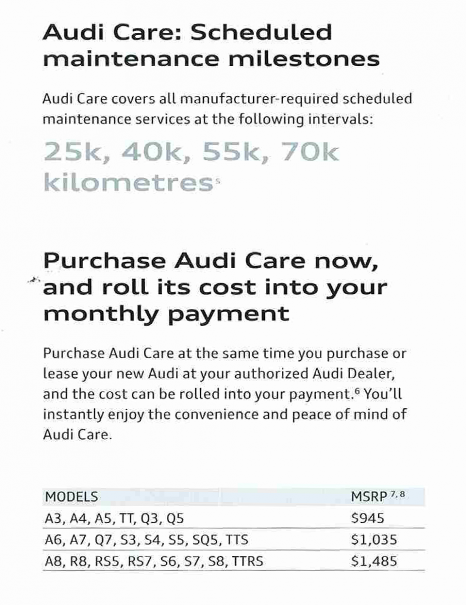 Demystifying Prepaid Maintenance Plans OpenRoad Auto Group - Audi a4 maintenance schedule