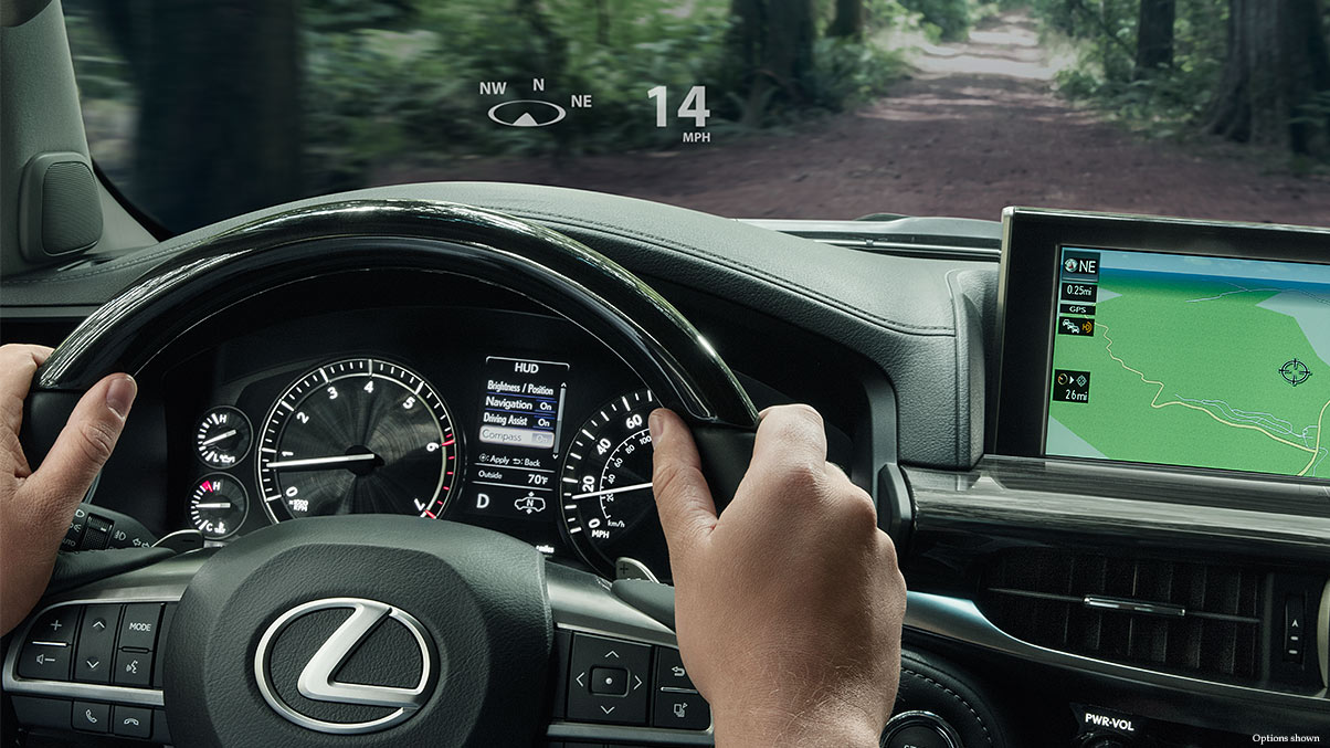 Lexus LX 570 head-up display