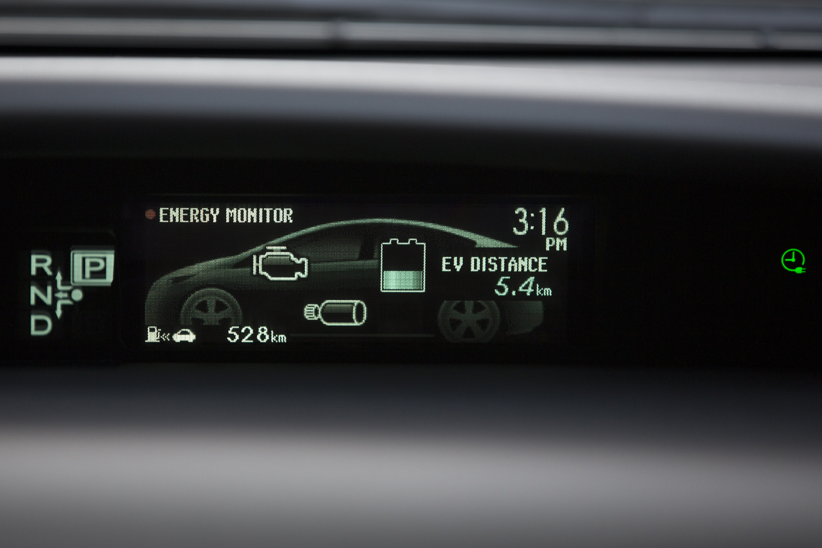 Toyota Prius Plug-in Hybrid energy monitor