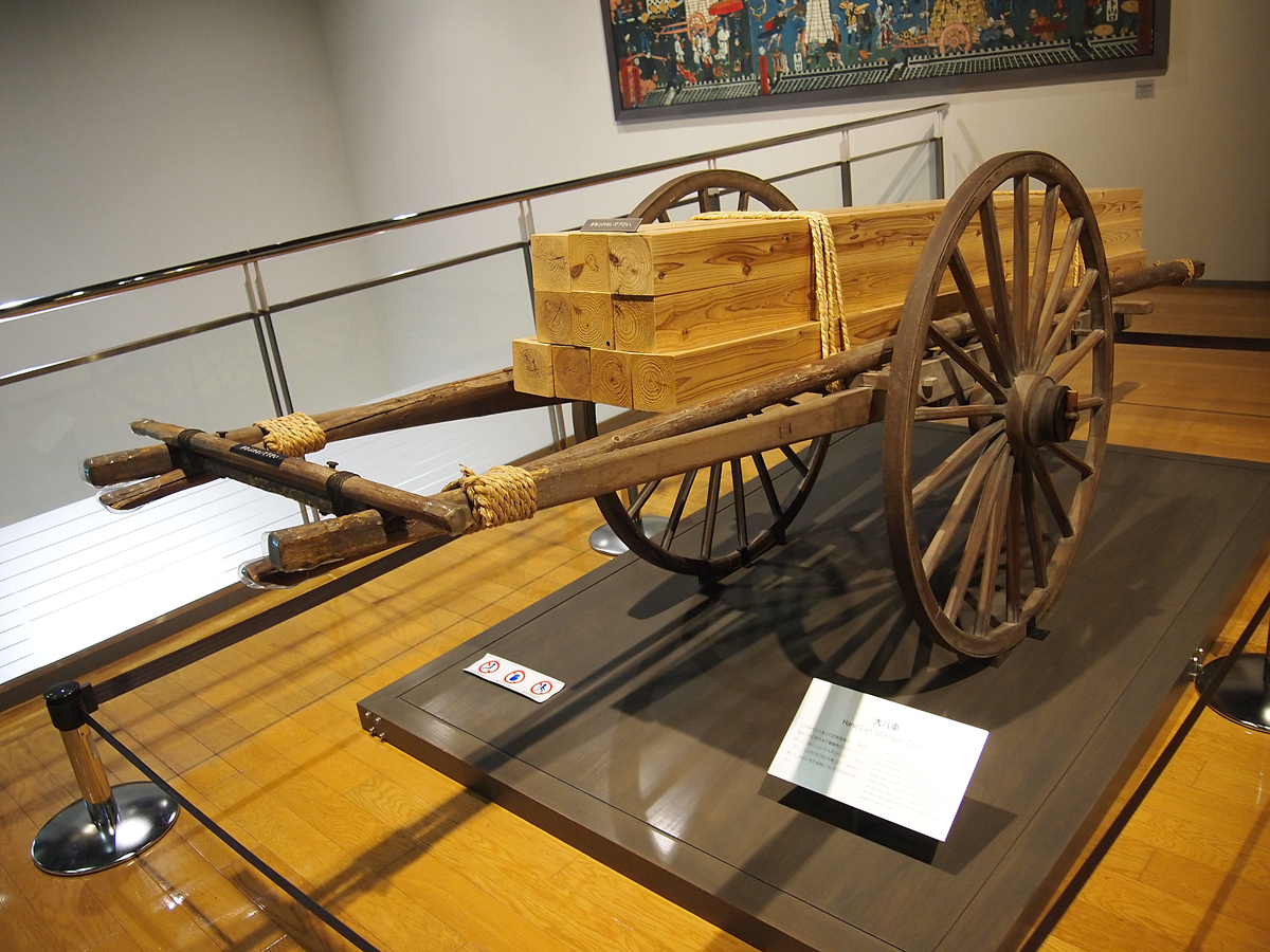 Toyota Automobile Museum wooden cart