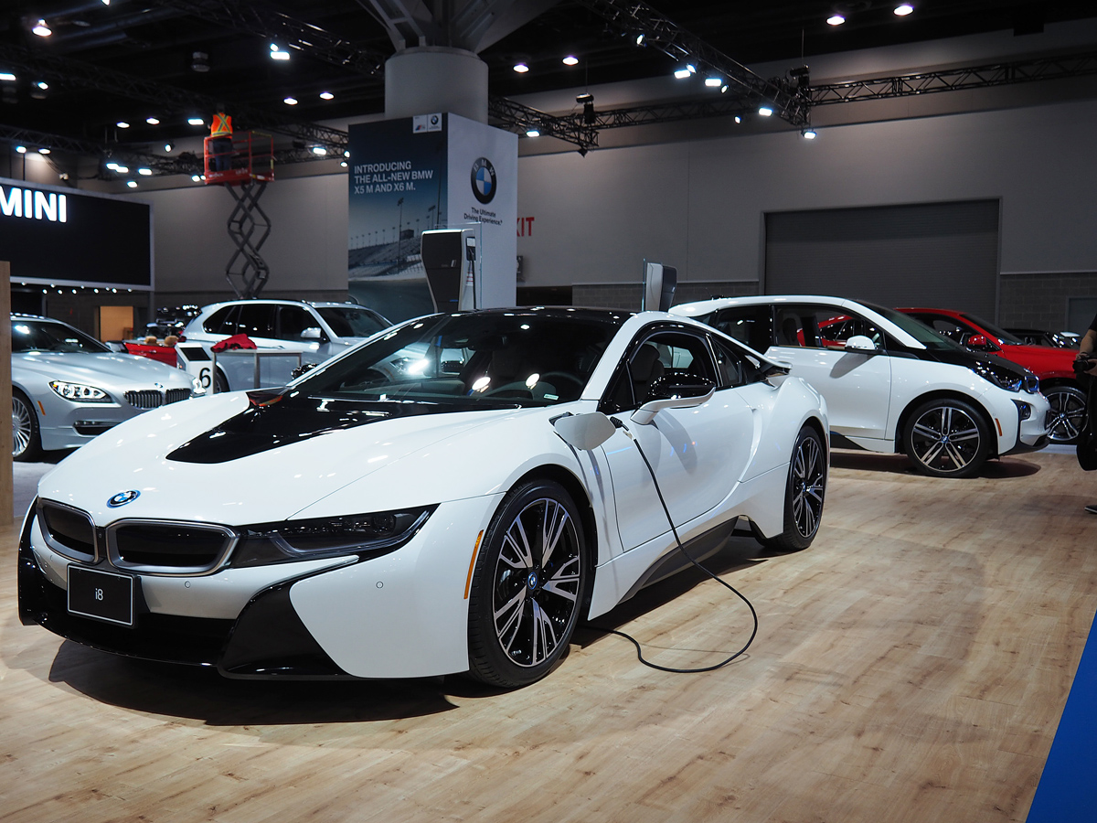 BMW i3 and i8 at 2015 Vancouver International Auto Show