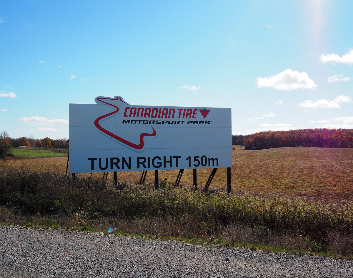 Canadian Tire Motorsports Park sign