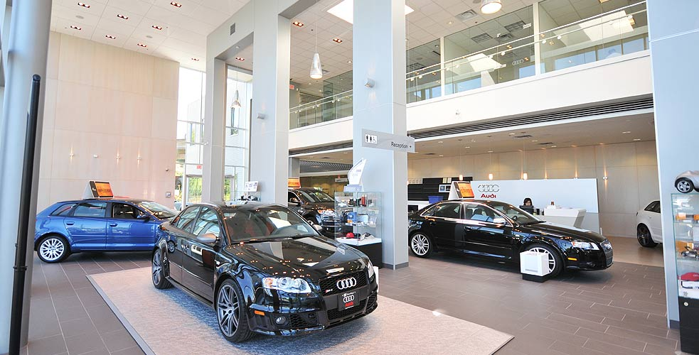 OpenRoad Audi show room