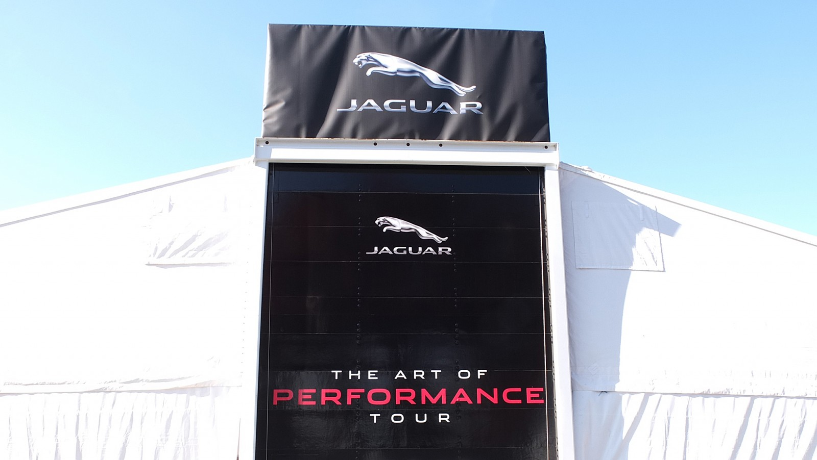 Jaguar Art of Performance Tour 2017 sign