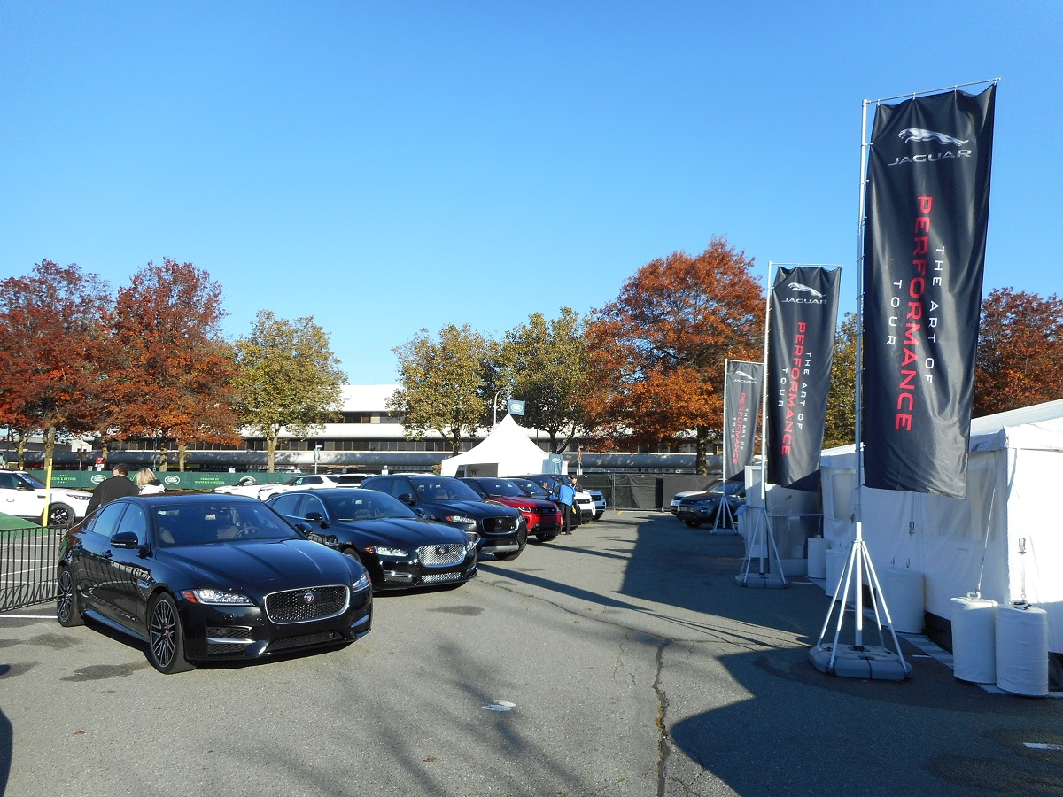 jaguar art of performance tour 2017 tent