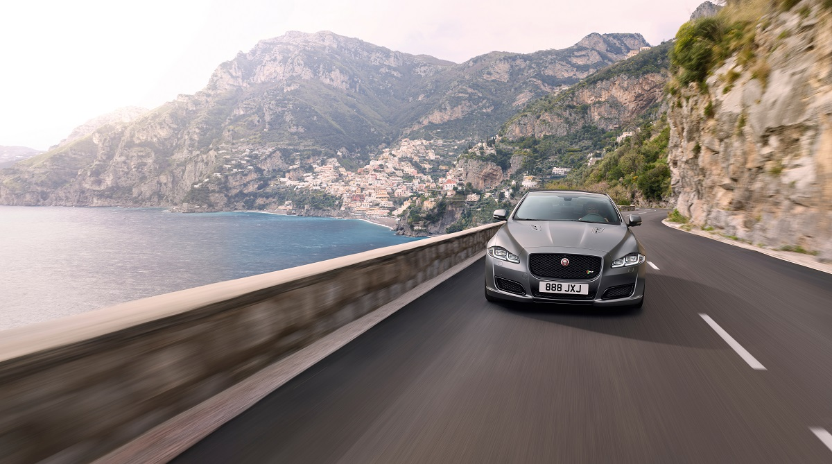 2018 Jaguar XJR575 mountain road