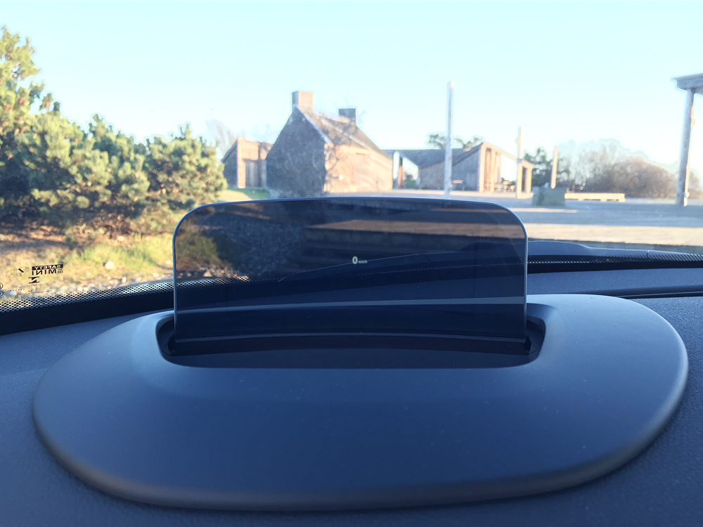 MINI Cooper S head-up display