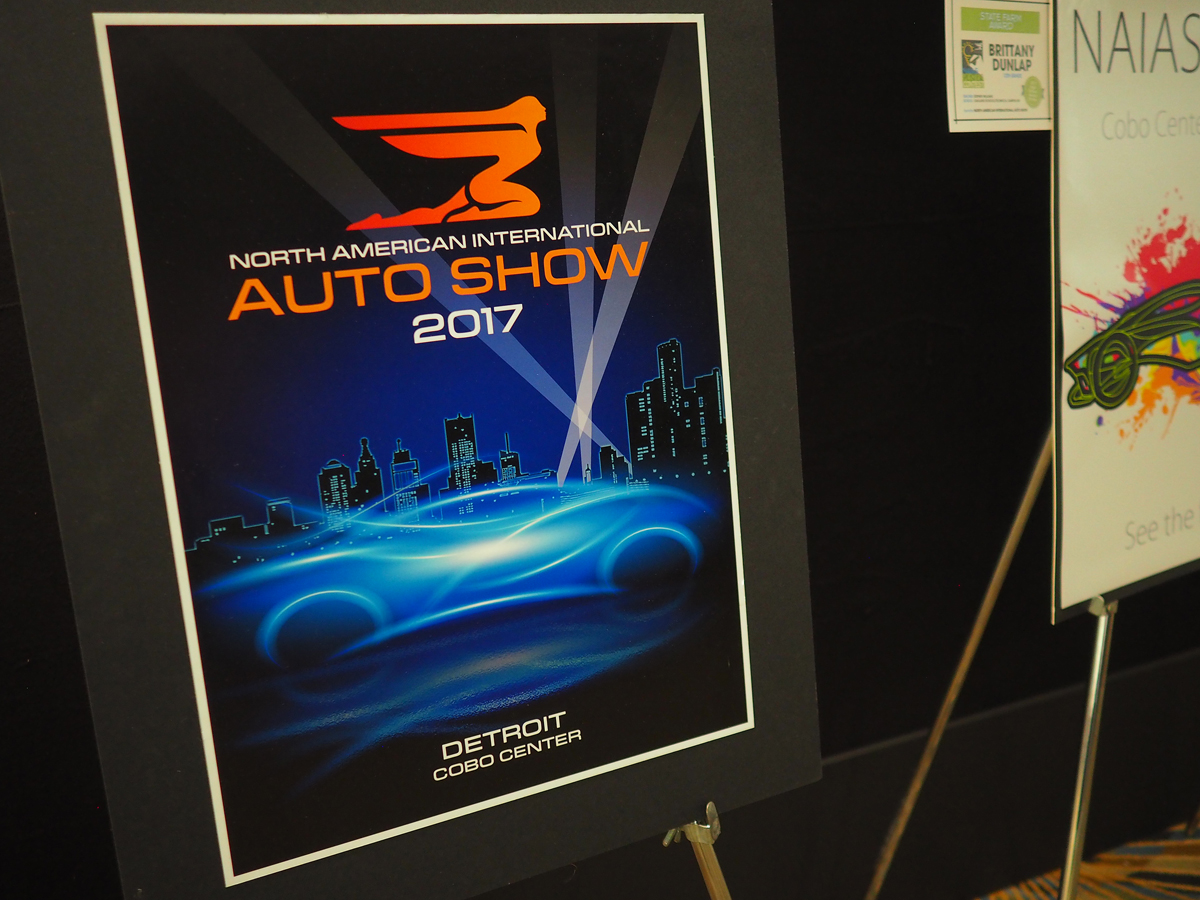 North American International Auto Show 2017 sign