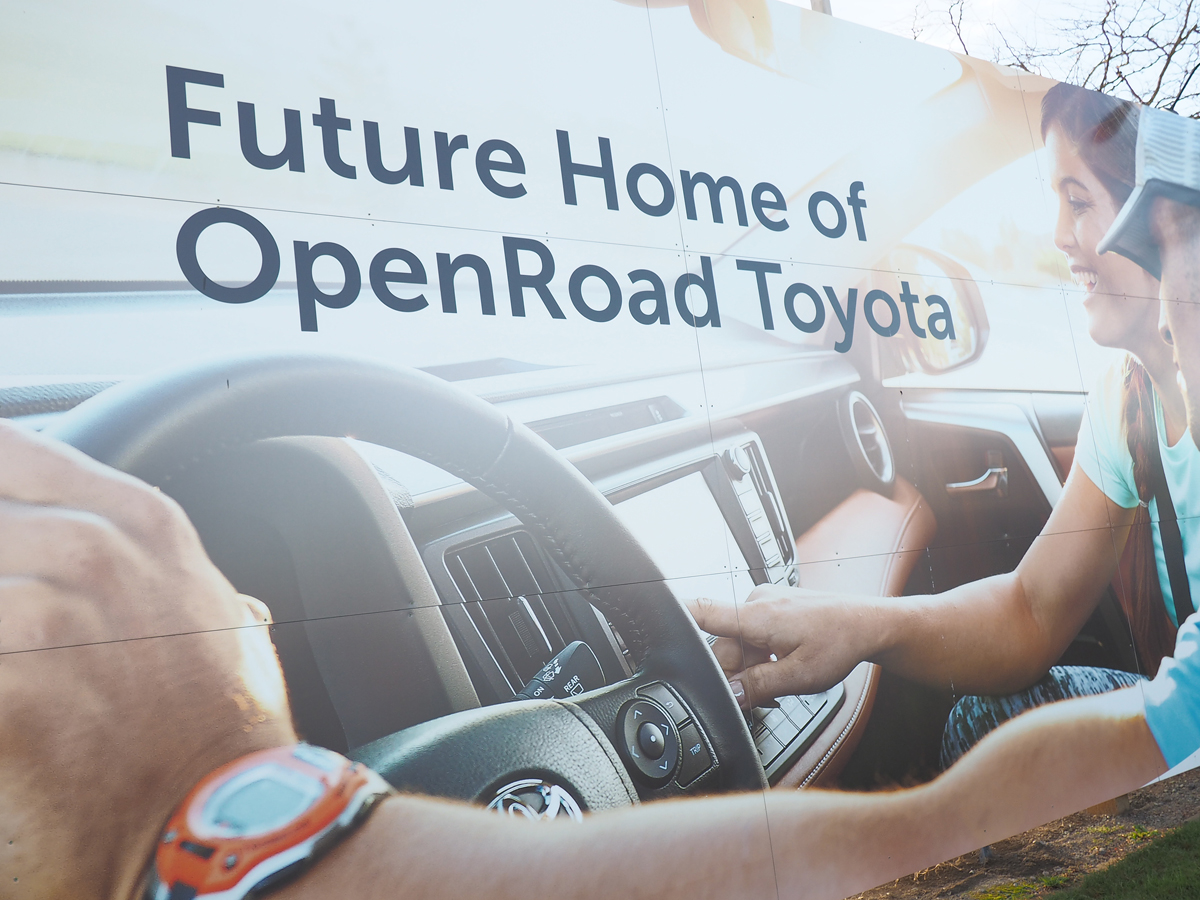 new OpenRoad Toyota Richmond sign