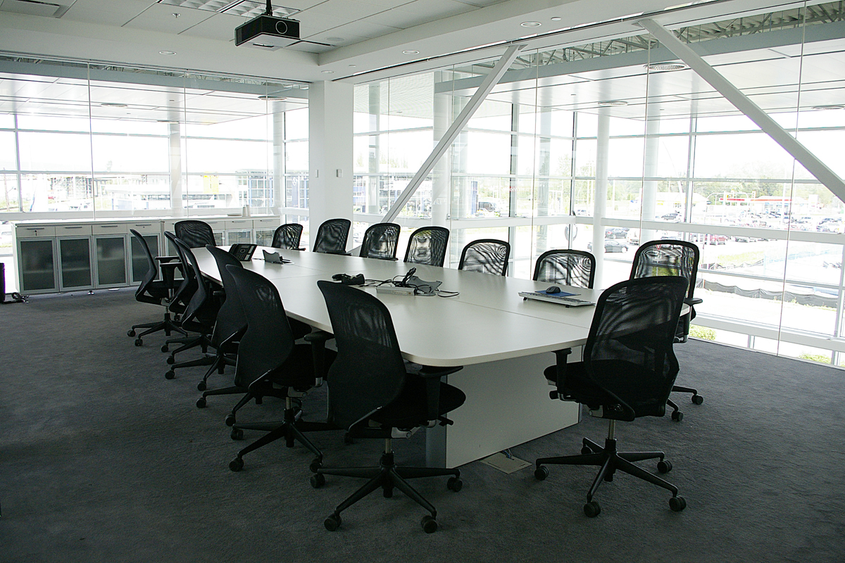 OpenRoad Langley BMW glass boardroom