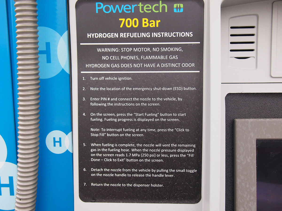 Powertech Labs hydrogen station fuelling instructions