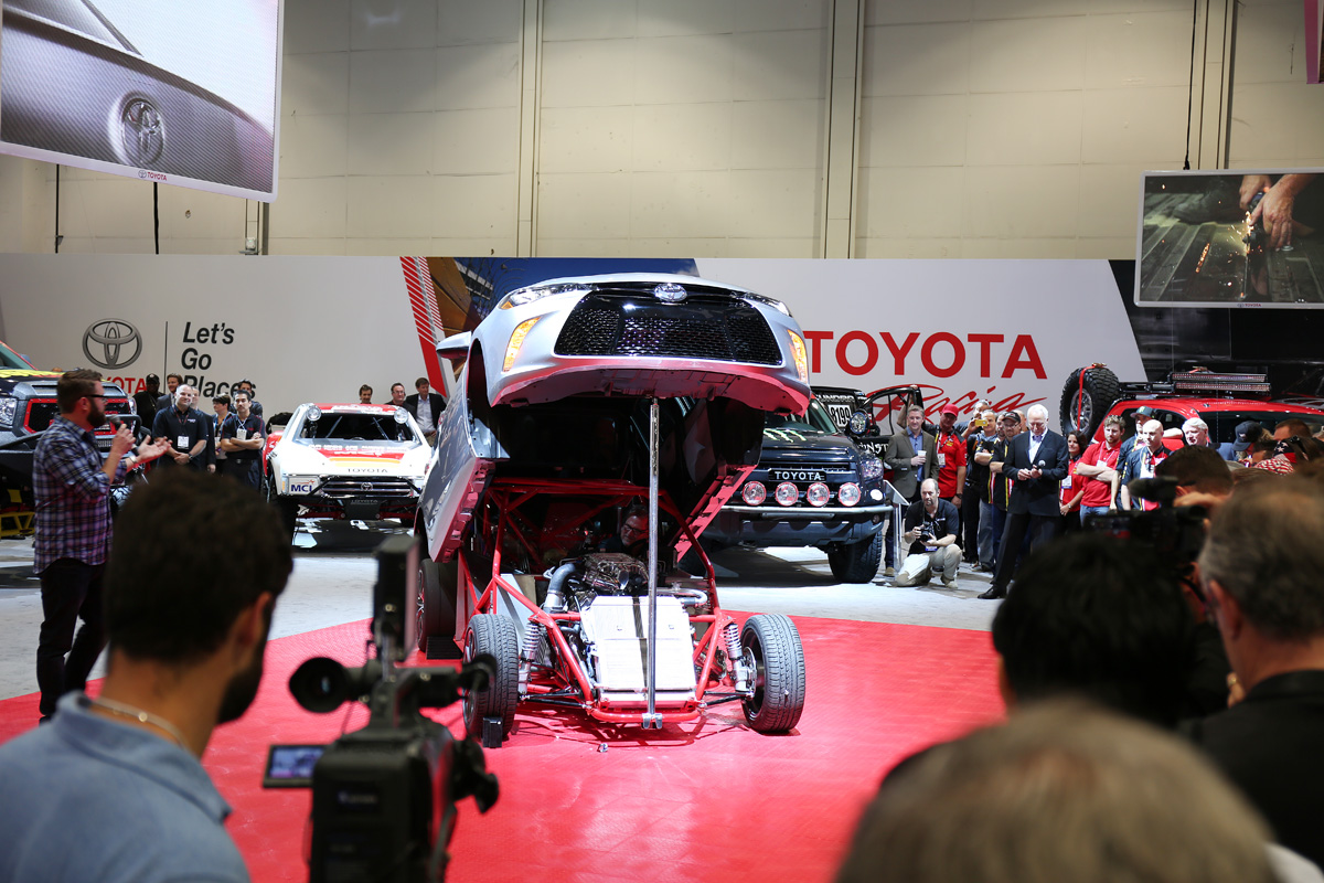 SEMA Toyota Camry dragster